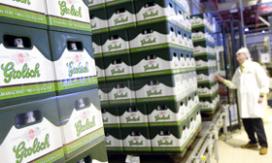 Japans bier door leidingen Grolsch