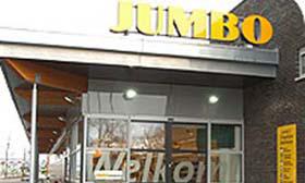 Chauffeursactie bij distributiecentrum Jumbo
