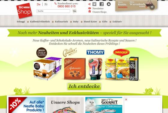 Nestlé webwinkel goedkoper dan supers