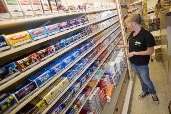 Uitstalverbod tabak in supermarkt dreigt