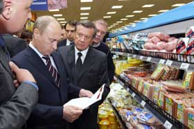 Rusland beknot Westerse hypermarkten