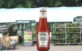 Heinz zet sauzen in tuincentra