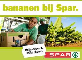Spar volledig over op fairtrade bananen