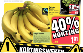 Vomar over op Fairtrade bananen