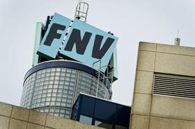 Protestactie FNV bij Vakcentrum