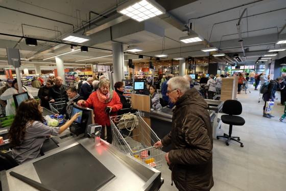 Meer omzet, minder bezoekers supermarkten