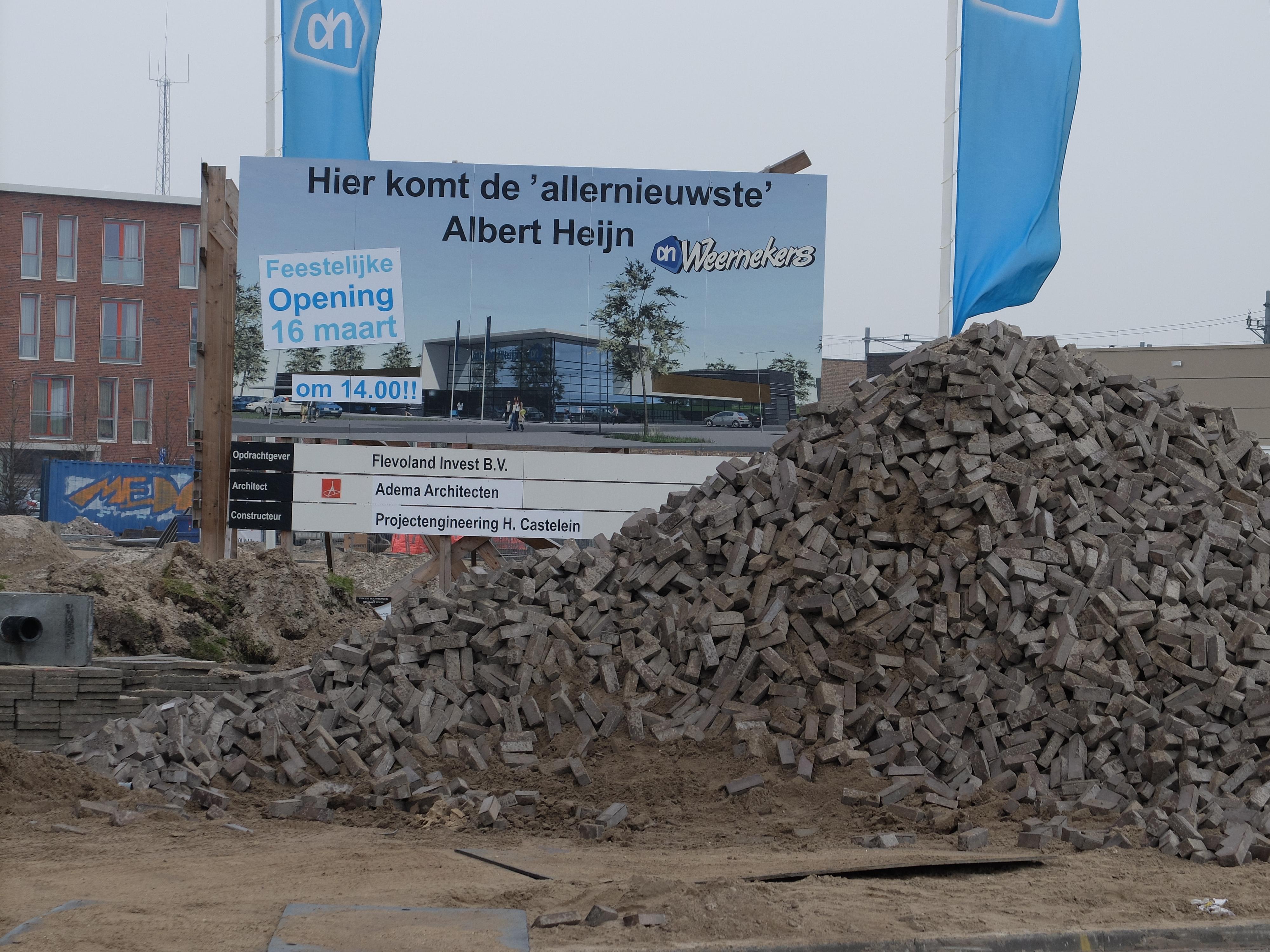 Albert Heijn Almere bouwen nieuwsbouw