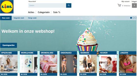 Lidl-shop.nl verkoopt alleen non-food