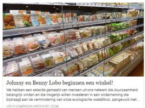 De broers verwijzen op Facebook naar de nieuwsbrief van de veganistische superamrkt