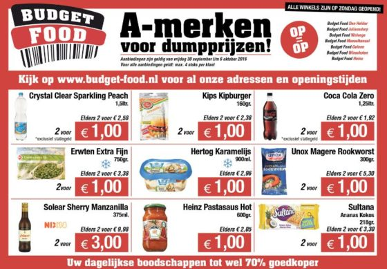 Dumpsuper Budget Food opent in Joure