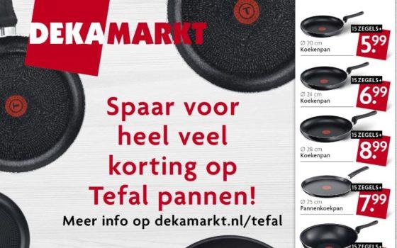 Goede Spaaractie Dekamarkt in teken gezond koken NT-73