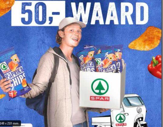 Spar bezorgt gratis paprikachips met tuktuk