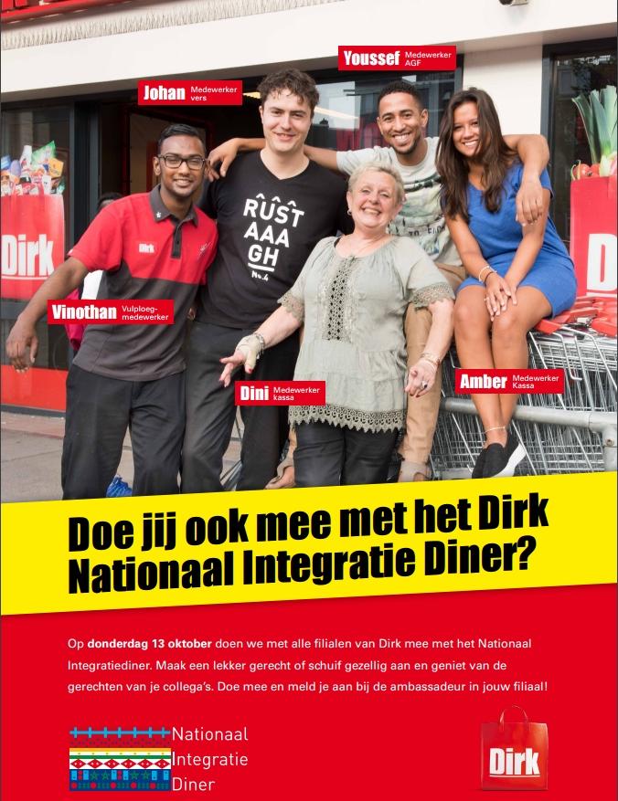 De poster van Dirk rond het Nationaal Integratiediner.
