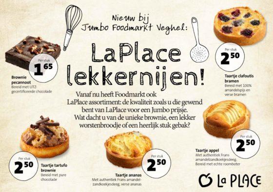 Jumbo zet La Place-assortiment in Foodmarkt