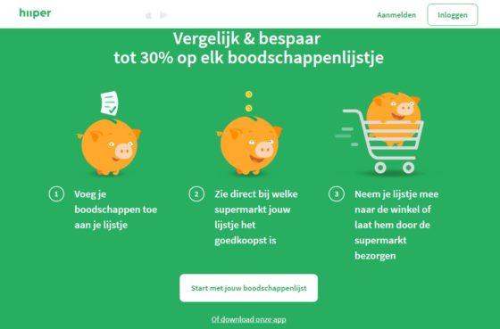 App Hiiper vergelijkt prijs boodschappen
