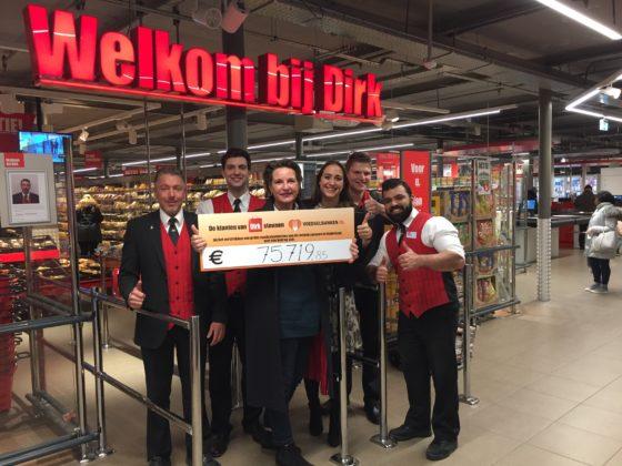 Dirk doneert recordbedrag aan Voedselbanken