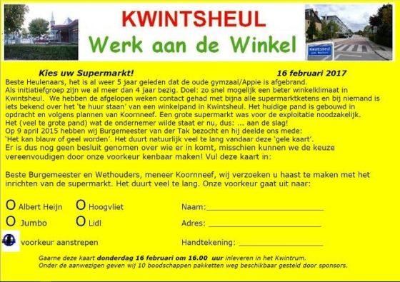Kaartactie Kwintsheul: Hoogvliet favoriet