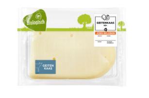 De verpakkingen met biologische geitenkaas bevatten mogelijk kaas van koemelk.