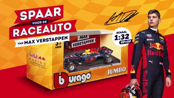 Jumbo laat sparen voor modelauto Verstappen