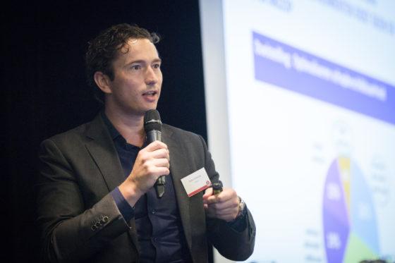 Namens Unilever verzorgde Pieter Olierook een presentatie onder de titel 'De Perfecte Winkel'. Foto: Koos Groenewold