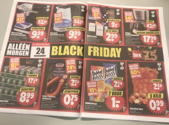 Dirk viert 'Black Friday' met dagaanbiedingen