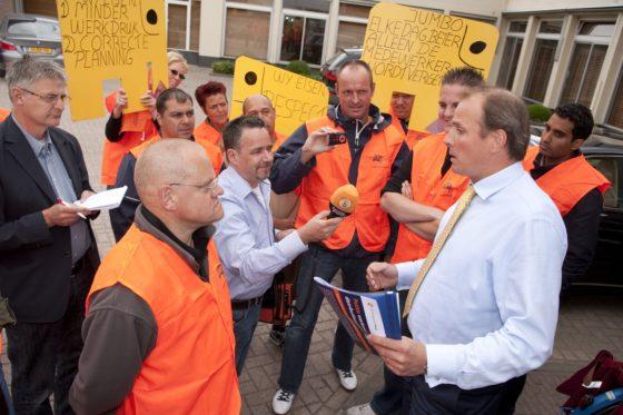 Jumbo wijst claim 'stakingbrekers' van hand