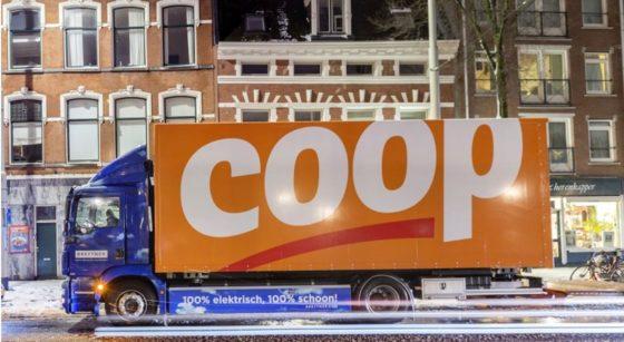 Coop gaat elektrisch bevoorraden in Rotterdam