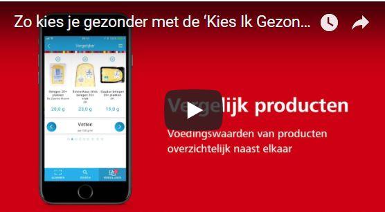 'Kies Ik Gezond?'-app Voedingscentrum live