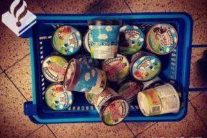 Maand cel voor stelen 24 bekers Ben & Jerry's-ijs