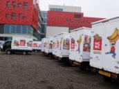 Dc-medewerkers Picnic houden protestactie
