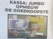 Jumbo pronkt met uitslag Kassa-test