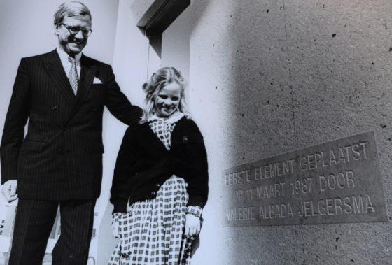 Eric Albada Jelgersma met zijn dochter.