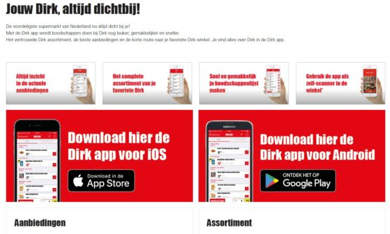 Dirk lanceert app met zelfscan