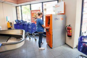 ING-automaten bij AH worden niet geel