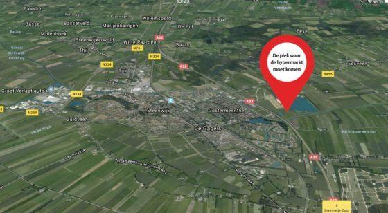 Hypermarkt Steenwijk definitief van de baan