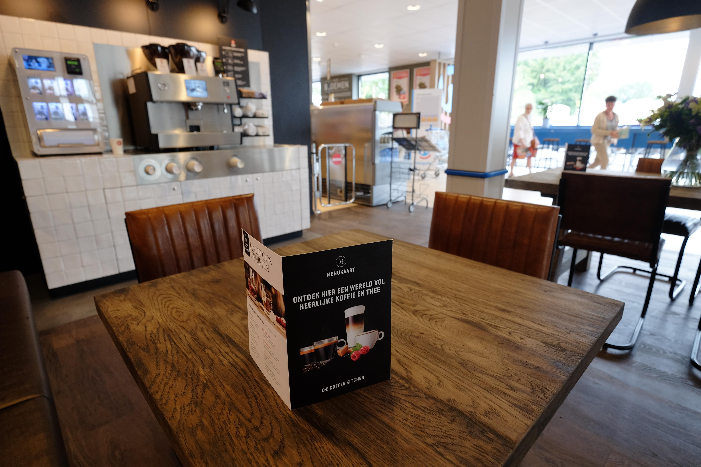 Het nieuwe filiaal van Hoogvliet in Veenendaal krijgt een koffiecorner net zoals het filiaal in Woudenberg (foto)