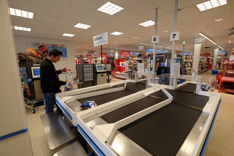 De winkel in Veenendaal krijgt tunnelscanners net als die in Woudenberg.