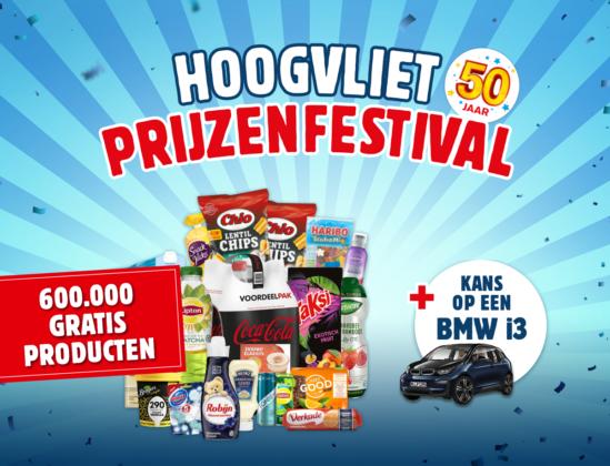 Jarig Hoogvliet geeft auto en cheque weg
