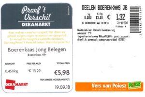 Deka en Poiesz halen kaas terug om poepbacterie