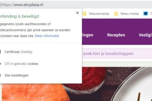 Google kleurt Ekoplaza- en Emté-sites rood