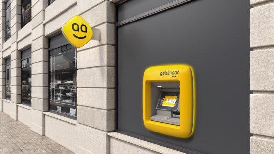 Geldautomaten geel en gaan Geldmaat heten