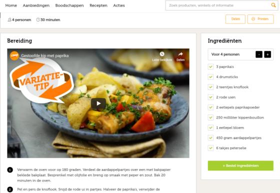 Coop vernieuwt website met recepten
