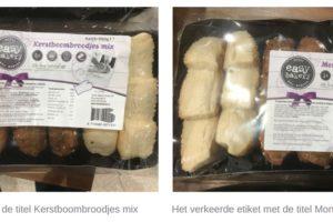 Allergiewaarschuwing Boni- en Poiesz-broodjes