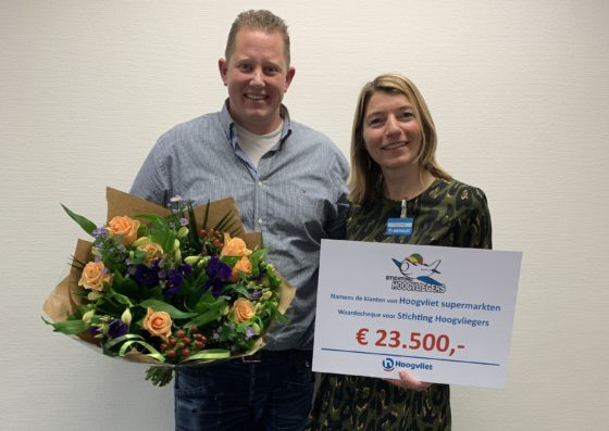 Hoogvliet doneert €23.500 aan Hoogvliegers