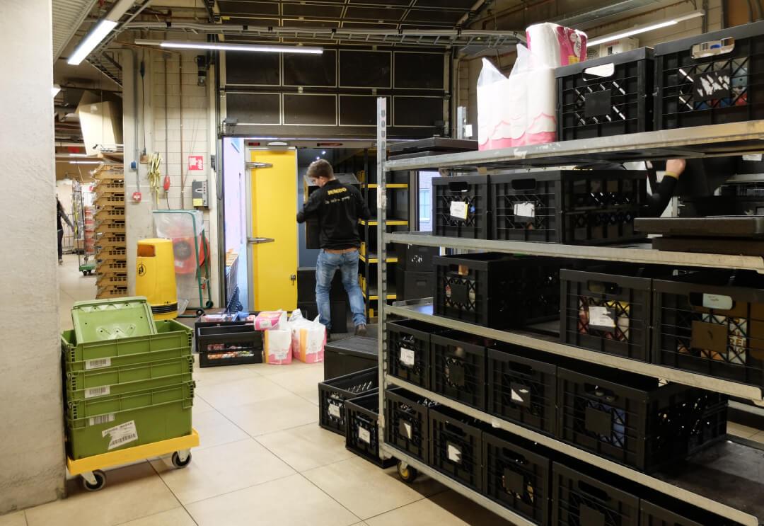 Tijdens de uitbouw in 2016 zijn geen extra meters gereserveerd voor het magazijn. Verdere uitbreiding is niet mogelijk