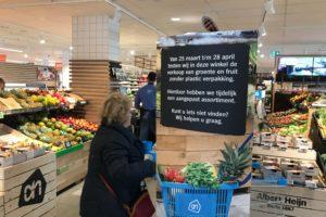 Albert Heijn: minder agf-plastic na test