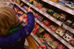 Zoet onder druk binnen snacks en zoetwaren