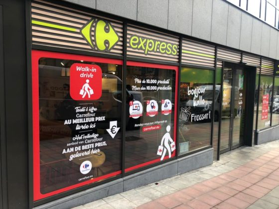 Carrefour introduceert Walk-in Drive in België
