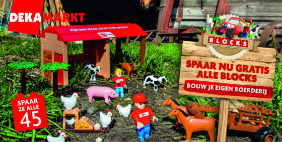 Spaaractie Dekamarkt in teken van boerderij