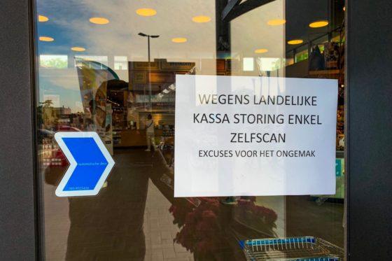 AH-winkels heropenen na forse kassastoring